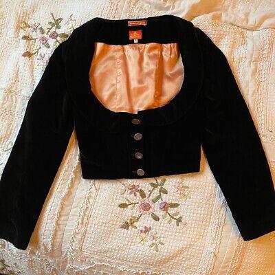 Vivienne Westwood AW1991 vintage black velvet underbust corset jacket