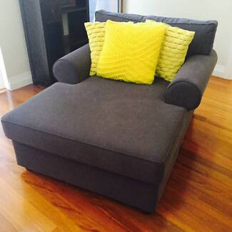 Grey Chaise Arm Chair Sofa x2 (sold separatley or together) Kensington Eastern Suburbs Preview