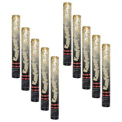 10-pc Confetti Cannone Party Popper Shottini Golden Strisce - Gold Party Poppers