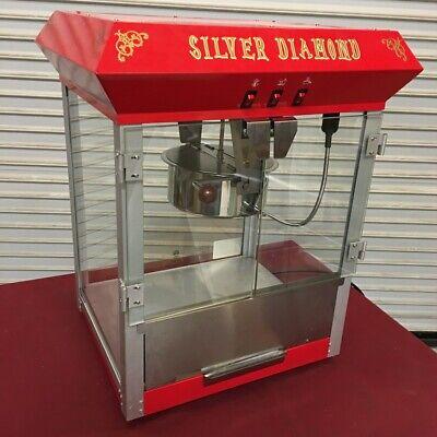 New 8 Oz Popcorn Machine Uniworld Upcm-8e 4556 Commercial Etl Restaurant Grade