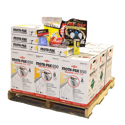 Dow Froth Pak 650 Spray Foam Insulation 4 Kits 2600 Sq Ft Total Free Shipping