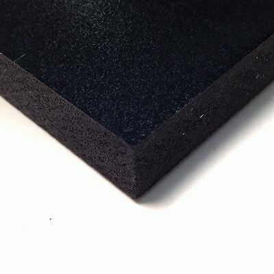 Black Pvc Celtec Foam Board Sheet 12 X 24 X 3mm 18 .125 Thick Nominal