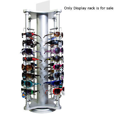Unassembled Counter Top Rotating Sunglass Display Stand 35.5h X 17.25wx17.25d