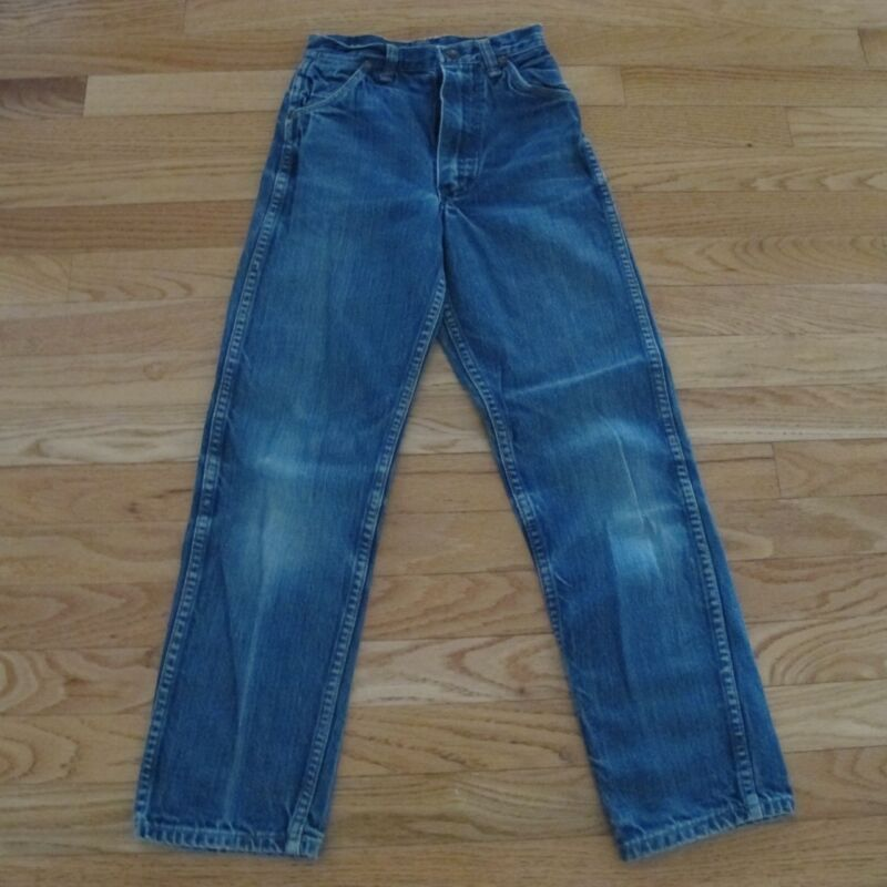 VINTAGE ORIGINAL DENIM JEAN PANTS MAVERICK BLUE BELL KIDS SIZE 12 1960