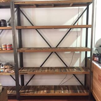 Industrial Style Timber Shelves