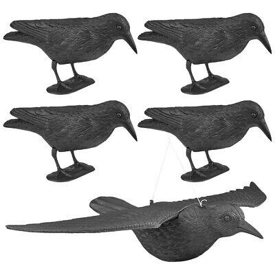 5x WELLGRO® Vogelschreck Krähe Rabe Vogelscheuche Taubenschreck Taubenabwehr NEU