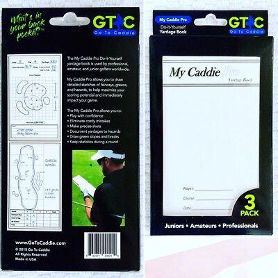 Yardage Book 3 Pack My Caddie Pro