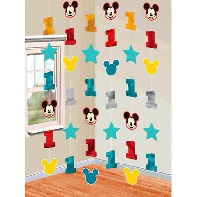 Mickey Mouse Fun to Be One 6 String Decoration 1st Birthday Party - Mickey Mouse 1st Birthday Decorations