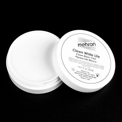 Clown White Lite 2oz theatrical circus face paint stage makeup cosmetic Mehron - White Clown Paint