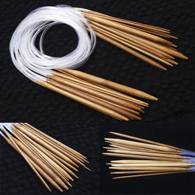 Double Point Carbonized Circular Bamboo Knitting Needles 40cm-120cm (Best Circular Knitting Needles)