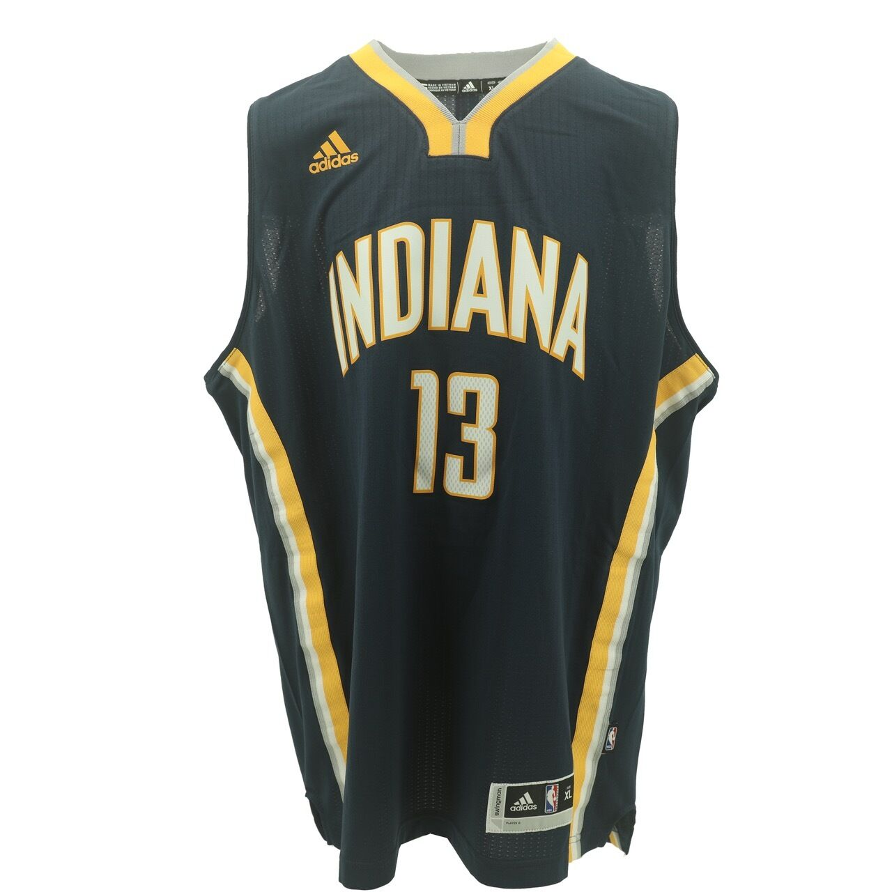 ed95d4a36ce42 Details about Indiana Pacers Youth Size Paul George #13 Adidas Swingman  Jersey +2