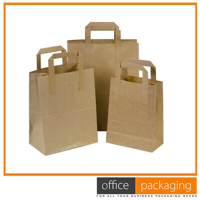 Medium Kraft Brown Takeaway Paper Food Carrier Bags 8