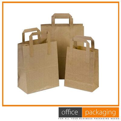 Medium Kraft Brown Takeaway Paper Food Carrier Bags 8