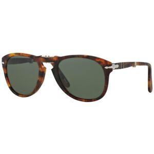 5e760b68fbe Persol PO 0714 108 58 CAFFE Frame Grey Green Polarized Lens Sunglasses 54