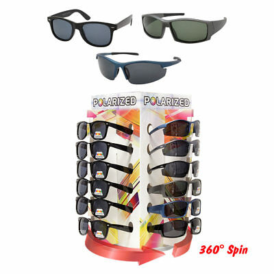 Sunglass Counter Display Rack Spinning Bottom Polarized 36 Sunglass Included