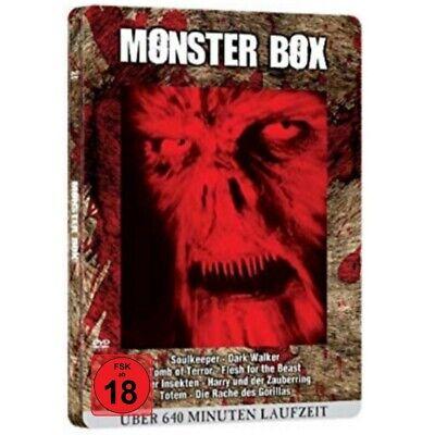 Monster Horror - Blutbox - Metallbox-Edition 8 Filme - Kreaturen - DVD - NEU  (Horror Halloween Filme)