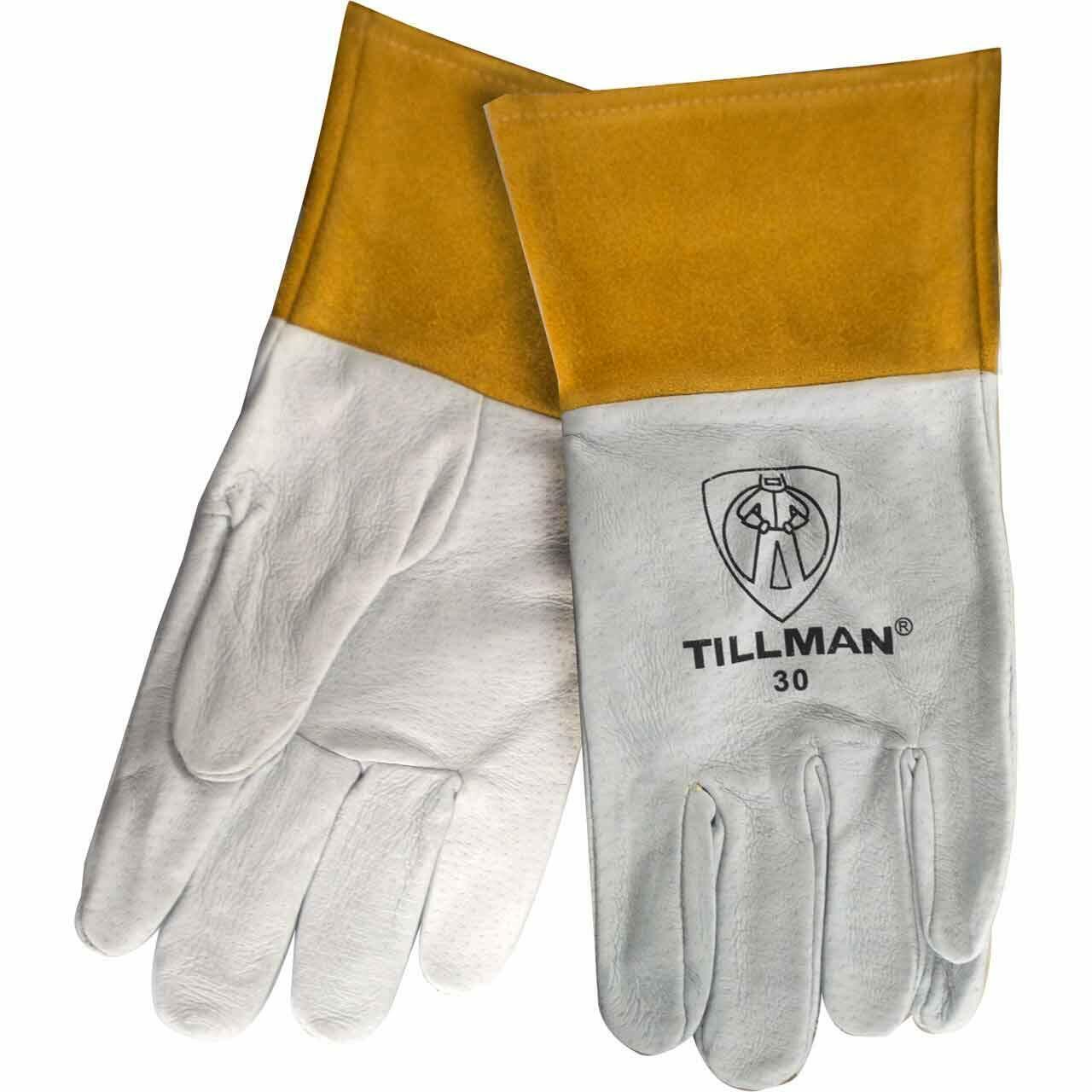 Tillman 30 Top Grain Pigskin TIG Welding Gloves Size Small- XL Business & Industrial