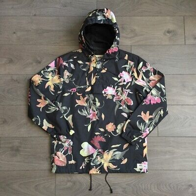 Vans Egan Death Bloom Mens Rain Lightweight Jacket Floral Black size small