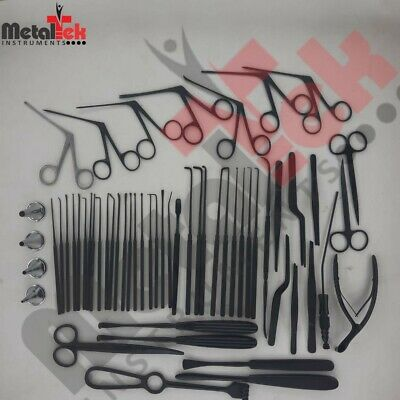 Tympanoplasty Instruments Set Micro Ear Surgery Ent Instruments Black Coated