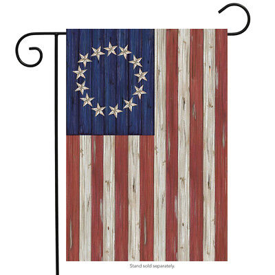 Betsy Ross Flag Patriotic Garden Flag Rustic 4th of July 12.5