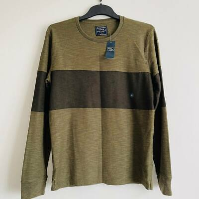 New Mens Abercrombie & Fitch A&F Green Striped Top Size XS Extra...