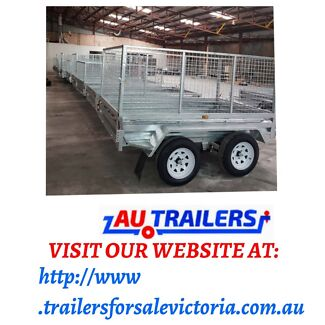 8x5 GALVANISED BOX TRAILER WITH CAGE HEAVY DUTY 1🌟👍 Springvale Greater Dandenong Preview