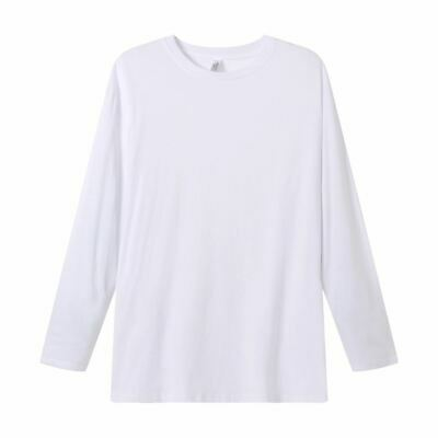 White Ladies Long Sleeve Tee Shirt | UPF 50+ Bamboo Cotton Premium (50 Long Sleeve Tee)