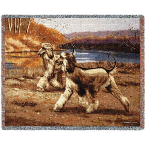 Throw Tapestry Afghan - Afghan Hound 7034