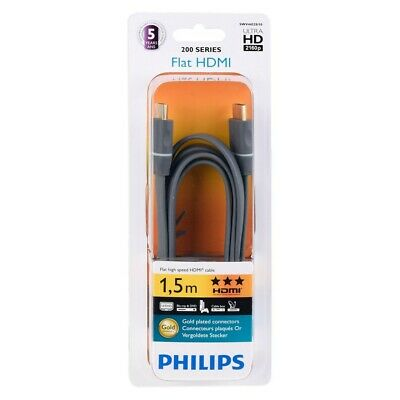 Philips Cable HDMI Ultra Plegable 1.4 IN Negro 1,50 Metros Euroconectores 4452S