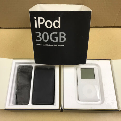 Collectible vintage iPod 30GB - set IN BOX - for collector *from Apple Computer