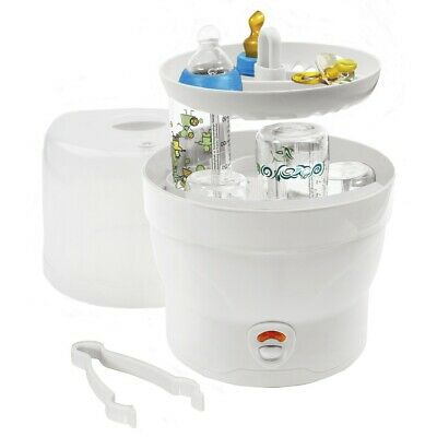 H+H Dampfsterilisator Vaporisator 6 Babyflaschen Sterilisator Bs 29 weiß