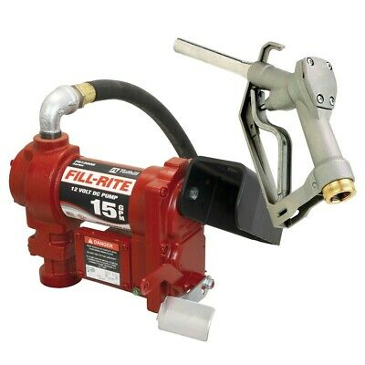Fill-rite Fr1210g 12v Dc Fuel Transfer Pump W Manual Nozzle - 15 Gpm
