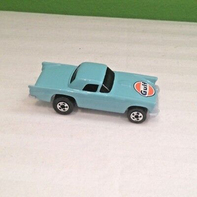 1 MATTEL 1977 HOT WHEELS 57 T-BIRD LIGHT BLUE GULF LOGO DIECAST CAR SEALED BAG ](T Bird Logo)