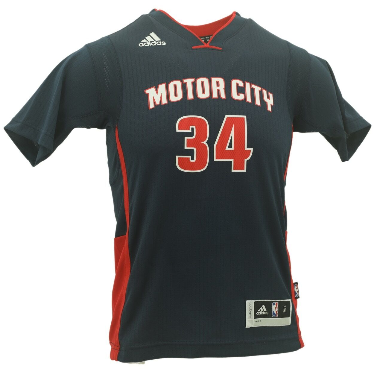new product f9799 cf0b4 Details about Adidas Tobias Harris Youth Size Detroit Pistons NBA Swingman  Jersey New With Tag
