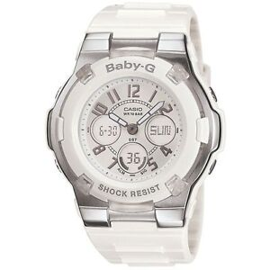 Casio Baby-G Womens Wrist Watch BGA110-7B BGA-110-7B Digital Analogue White New