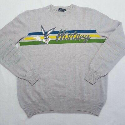 Vintage Iceberg History Bugs Bunny Sweatshirt | Medium | Grey/Yellow/Green