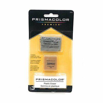 Prismacolor Premier Plastic Eraser Set Includes 3 Unique Erasers