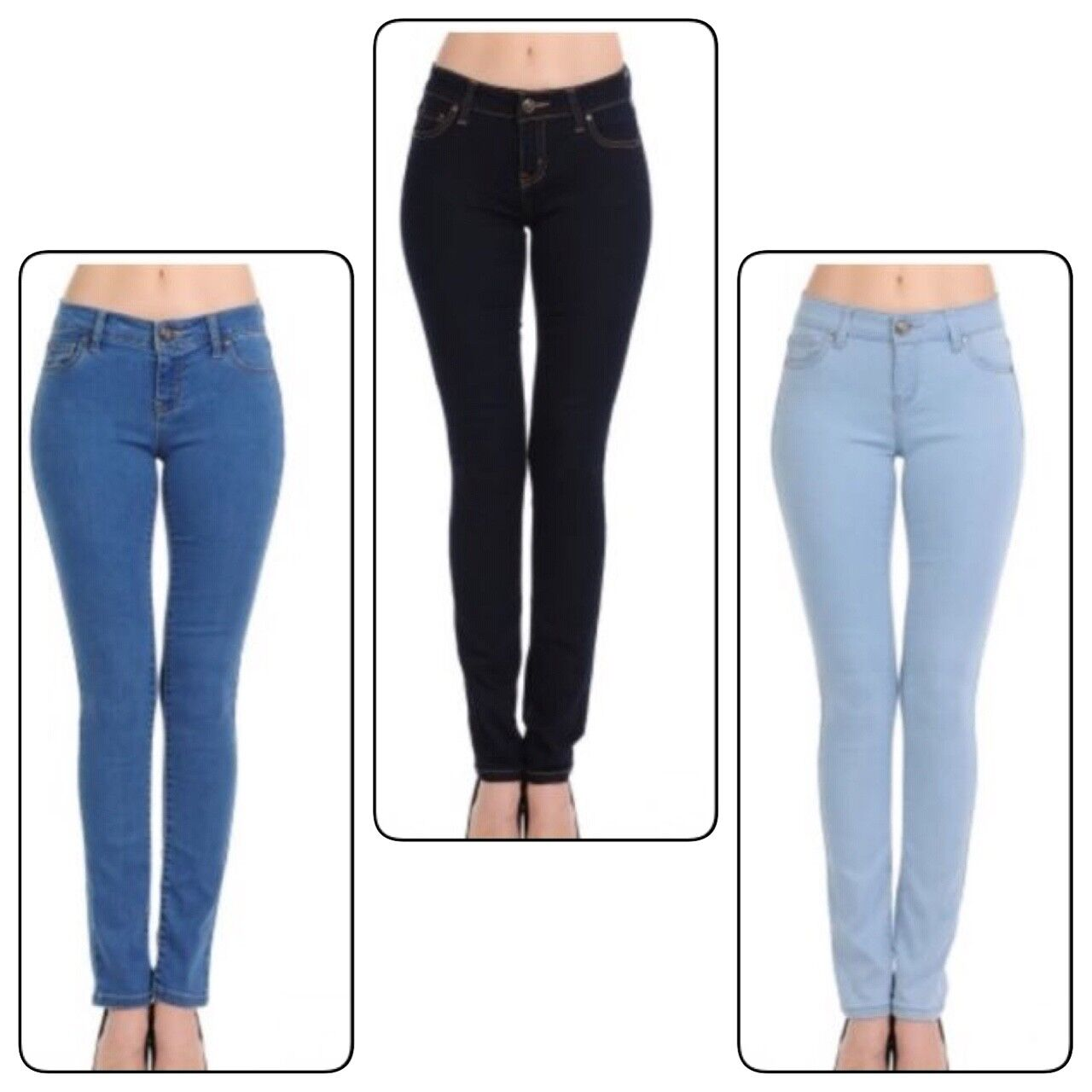 Wax Women  Juniors Mid Rise Push Up One button Skinny Jeans