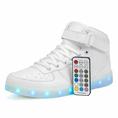 Voovix Kids LED Light Up Shoes USB Rechargeable Flashing High-top Sneakers with