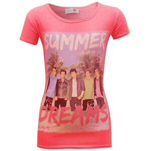 Girls ONE DIRECTION  True Love T-shirt Top Ages 7 - 13  Summer Colours