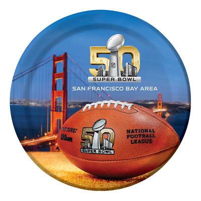 Super Bowl 50 Dinner Plates 9