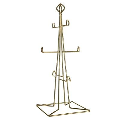 Vertex 6 Cup Mug Tree Gold Plated Iron Wire Kitchen Holder Table...
