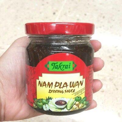 Takrai Brand,Sweet Fish Sauce (NAM PLA WAN Dipping Sauce),Original Flavour 215g  Fish Sweet Sauce