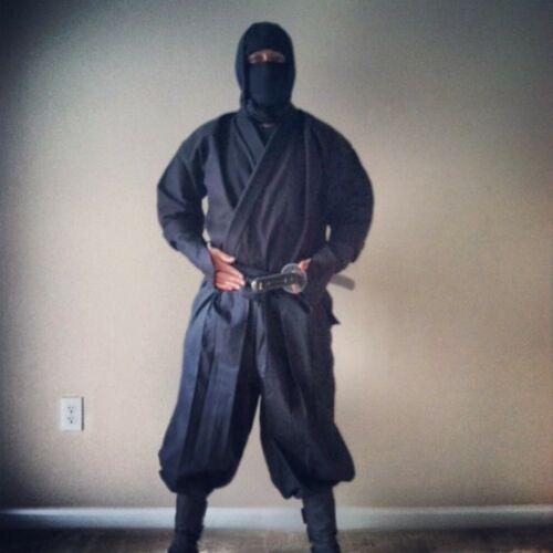 Ninpo Mart Shinobi Shozoku Ninja Uniform 16pcs Black Ninjutsu Martial Arts