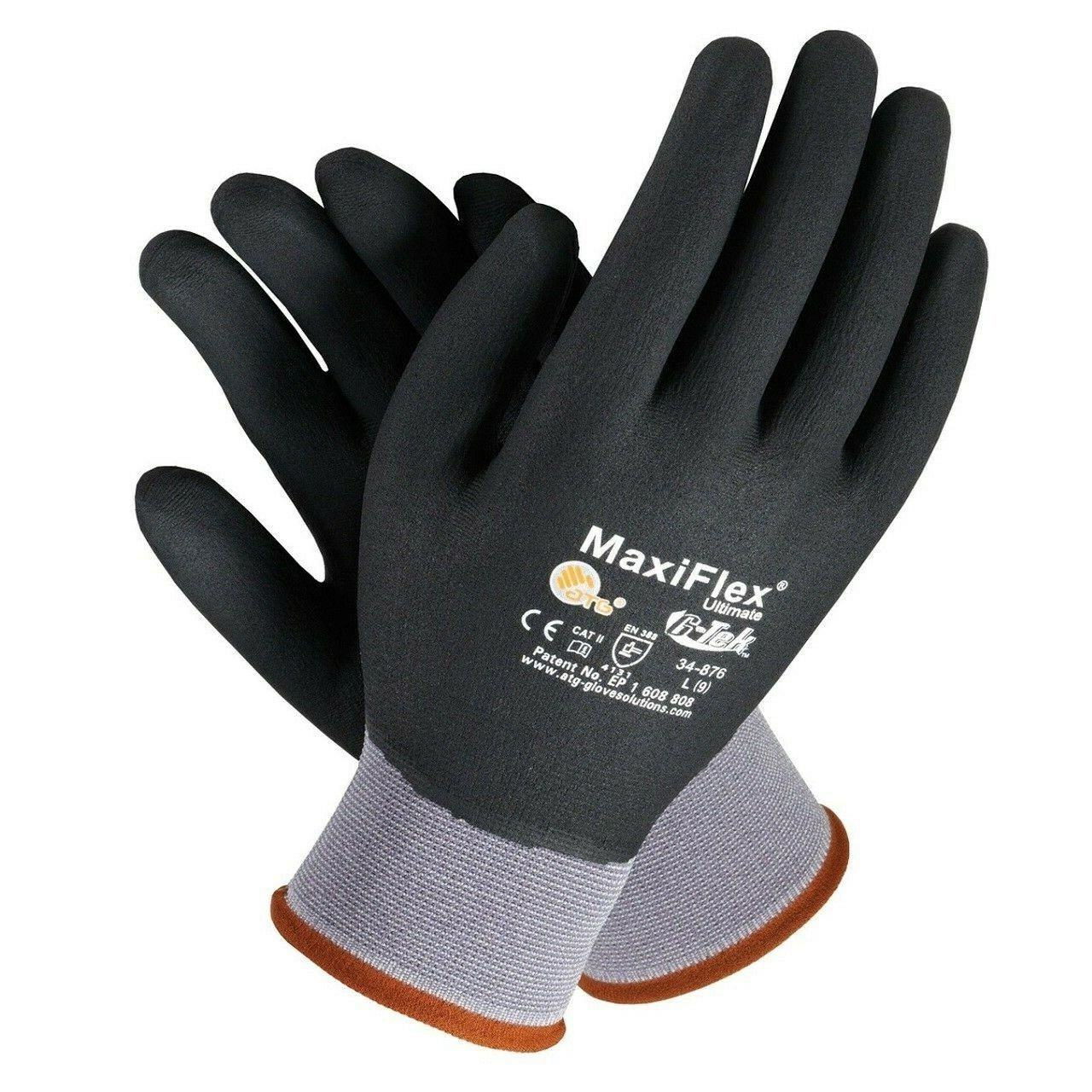 GTek 34-876 MaxiFlex Ultimate Nitrile Fully Coated Gloves 6 Pair Pack, Pick Size Business & Industrial