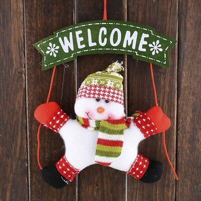 Christmas Snowman Door Hanging Decor Home Party Marker Ornament Ornaments Cute ()
