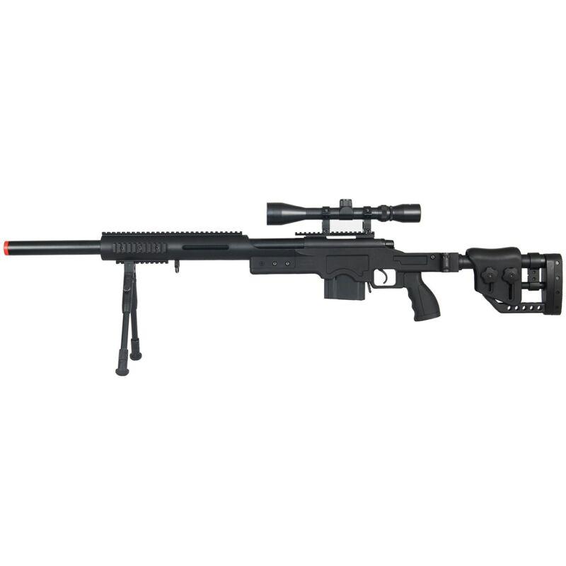 WELL VSR-10 BOLT ACTION AIRSOFT METAL SPRING SNIPER RIFLE GUN w/ SCOPE BB BBs