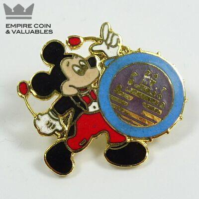 Vintage 1986 Disney Mickey Mouse Playing Drum Collectible Pin*W1C3