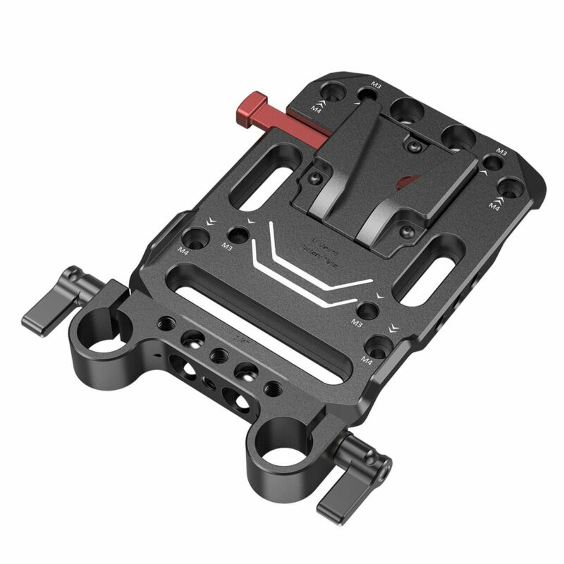 SmallRig V Mount Battery Plate with Dual 15mm Rod Clamp 3016