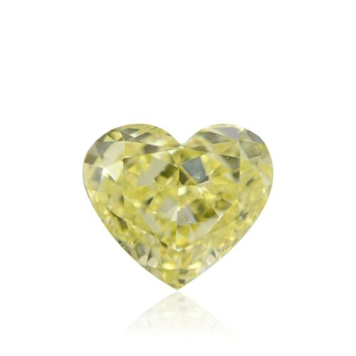 0.29Cts Fancy Light Yellow Loose Diamond Natural Color Heart Shape GIA Cert